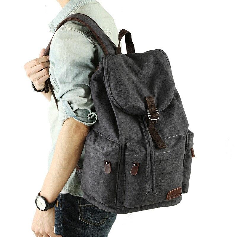de lona mochila de grande Exterior : Nenhum