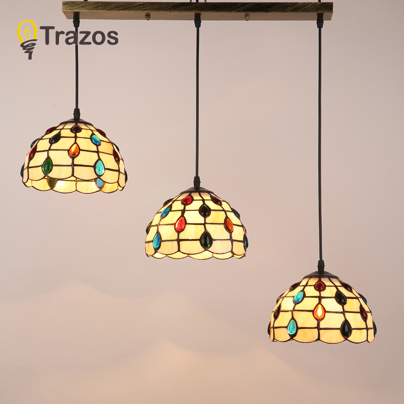 Tiffany Mediterranean style natural shell Pendant Lights lustres night light led lamp floor bar home lighting Free shipping tiffany mediterranean style natural shell pendant lights art creative stained glass night light bar balcony home lighting pl657