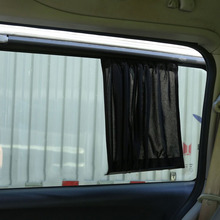 2 шт. 3 цвета обновления окна автомобиля Шторы эластичный автомобилей Солнцезащита боковых стёкол автомобиля зонтик ткань автомобильный навес Шторы автомобиля жалюзи крышка