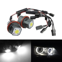 ANGRONG 2x Updated 80W For BMW Angel Eyes Light LED Marker For BMW 6 Series E63/E64 M6 Pre LCI 2005 2008 E87 E60 X3 X5