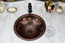 Free Shipping Fashion wash basin, Bronze Basin, Handmade Copper Sink,Antique Bronze Basin,Brass Counter Basin, Wholesale