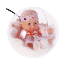 Lifelike Realistic Baby Doll Transparent Ball Dreams Gift 4 Inch Toy Soft Body