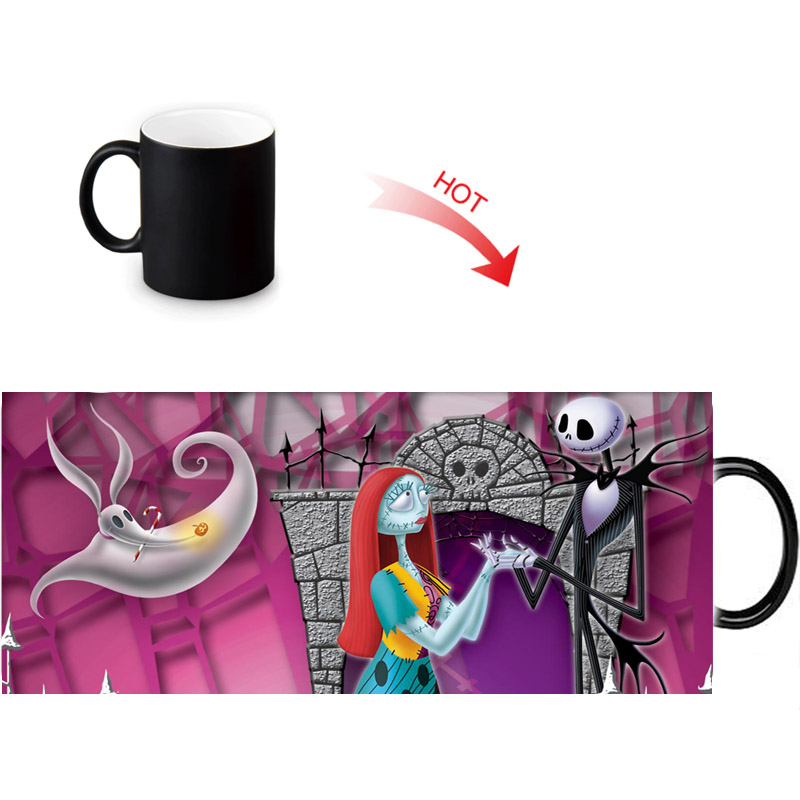 Custom The Nightmare Before Christmas Magic Mug Personalized Morph Mugs Heat Sensitive Color Changing Coffee Cup Ceramic Mug