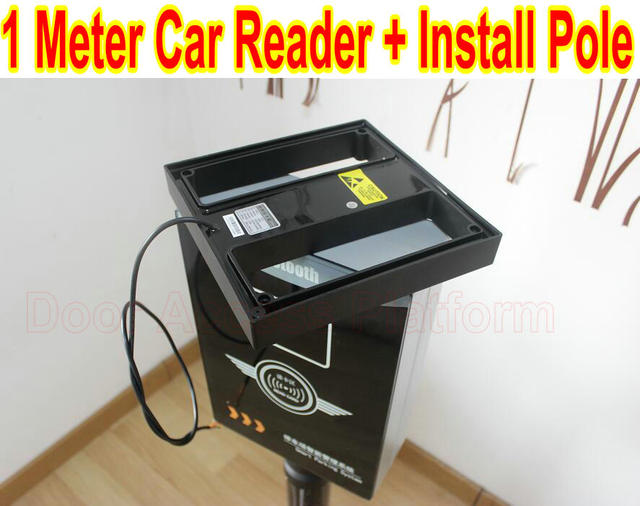 US $216 68 |Car Park 1 Meter reading reader+Installation pole 125KHz rfid  card em id card read can work with Controller Panel board system-in Access