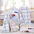 2pcs/set  Newborn Baby 0-6M warm Clothing Set  Baby Boy/Girl Clothes 100% Cotton Underwear winter coat  pants  ,Free Shipping