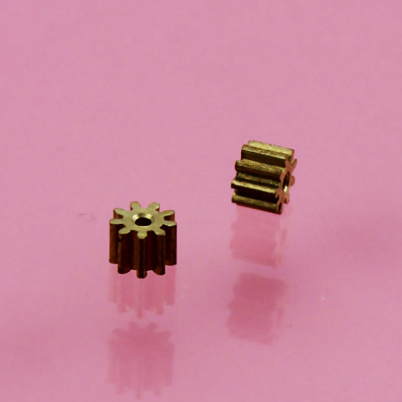 30pcs 9teeth 1mm hole 0.4M Motor copper gear/diy toys accessories/baby toys/Technology production accessories 0.4m91a