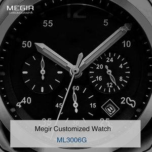 Image 3 - Megir montre daffaires à quartz étanche, en acier inoxydable, pour hommes, 3006, livraison gratuite, montres de mode pour hommes
