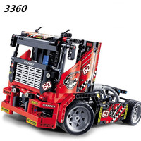 Decool 608pcs 3360 Race Truck Car 2 In 1 Transformable Model Building Block Sets DIY Toys