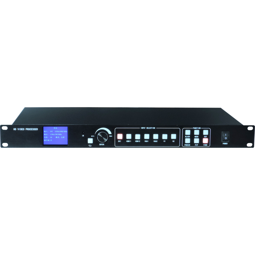 LED video processor scaler 1920*1200 Support 2 sending cards DVI VGA HDMI,video wall controller