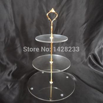 wedding decoration/ Clear 3 tiers Hanging Acrylic Cupcake Stand or Acrylic Round Cupcake Stand