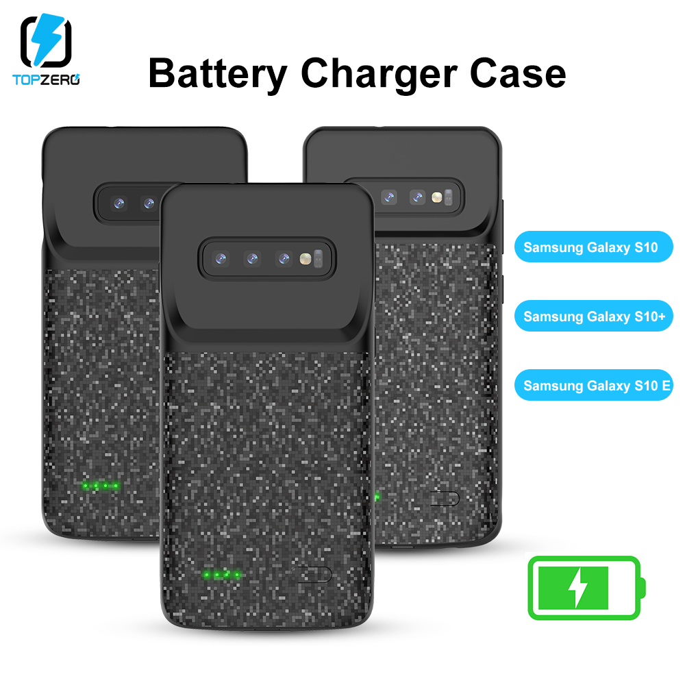 Battery Charger Case For Samsung S10 S10e S10plus Shockproof Powerbank Cover Charging Case For Samsung Silicone Power Case