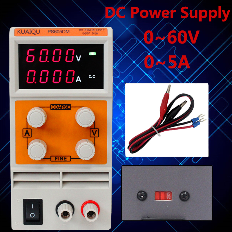 Professional adjustable laboratory digital DC Power Supply 60V 5A Single phase Switch Power Supply Voltage Regulators cps 6011 60v 11a digital adjustable dc power supply laboratory power supply cps6011