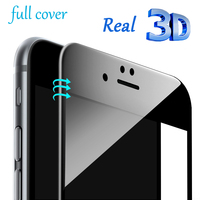 Real 3D Curved Edge 9H HD Screen Protector Film Full Cover Tempered Glass for iPhone 6 6s 7 8 Plus 7plus X Explosion Proof Clear