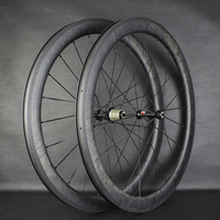 2020 New Wheels 75mm Road Bicycle Marble Wheelset With R36 Hubs and Sapim CX Ray Spokes 75mm Tubular/Clincher/Tubeless