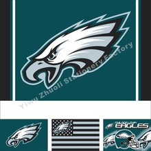 Philadelphia Eagles Primary Flag With Big Logo 144X96cm (3x5FT) 100D Polyester High Quality Banner Ensign Free Shipping