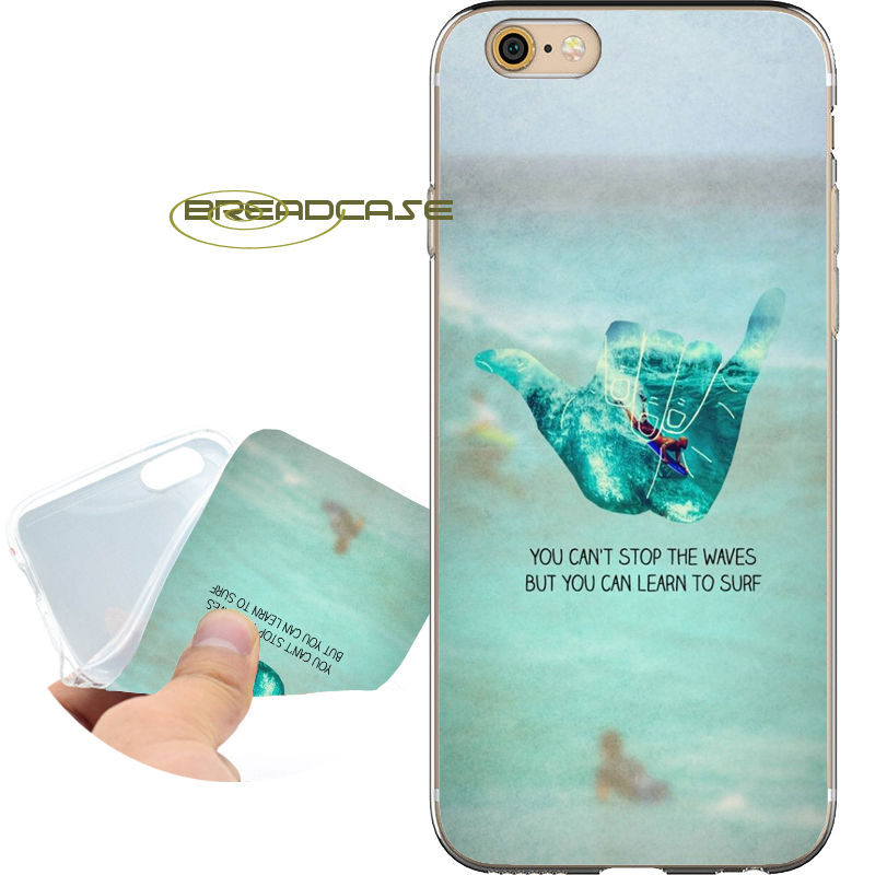 Coque Learn to Surf Capa Soft Clear TPU Silicone Phone Case for iPhone X 8 7 6S 6 Plus 5S SE 5 5C 4S 4 Case iPod Touch 6 5 Cover