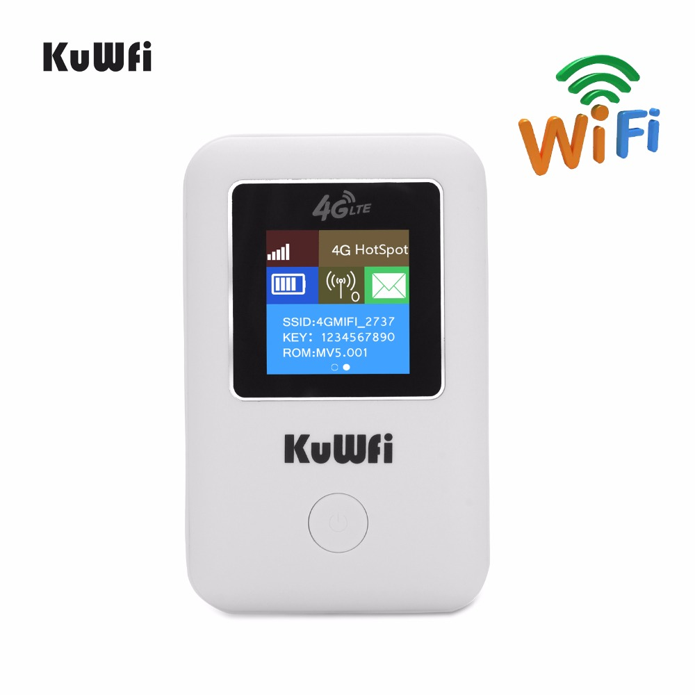 KuWFi Wireless 4G WIFI Router Ontgrendeld LTE Router Draagbare MINI Router Pocket 4G Modem Car Wi-fi Router Met Sim Card Slot