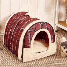 Muqgew Pet Dog Cat Bed House Warm Soft Mat Bedding Igloo