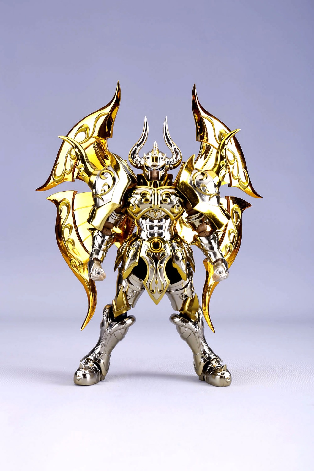 in stock Aldebaran Taurus soul of gold SOG Divine armor Saint Seiya Myth Cloth EX metal toy PayPal Payment new arrival s temple model st taurus aldebaran saint seiya metal armor myth cloth gold ex action figure toy