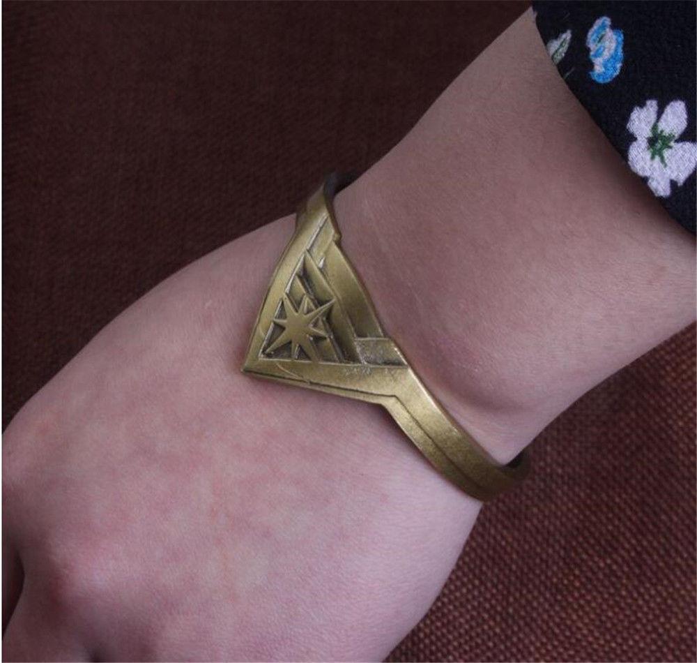 Высокая популярность фильм Wonder Woman металлический браслет ювелирные Металл Wonder Для женщин логотип Crown Браслеты Jewelry Рождественский подарок