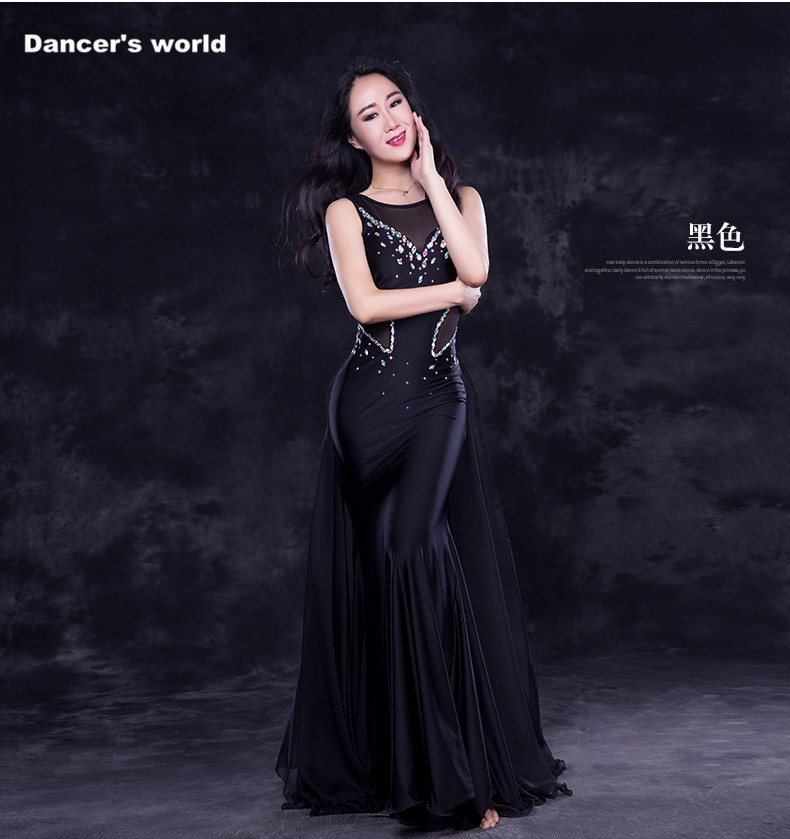 Luxury women belly dance clothes mesh stones belly dance dress girls belly dance clothing performance belly dance dress M,L