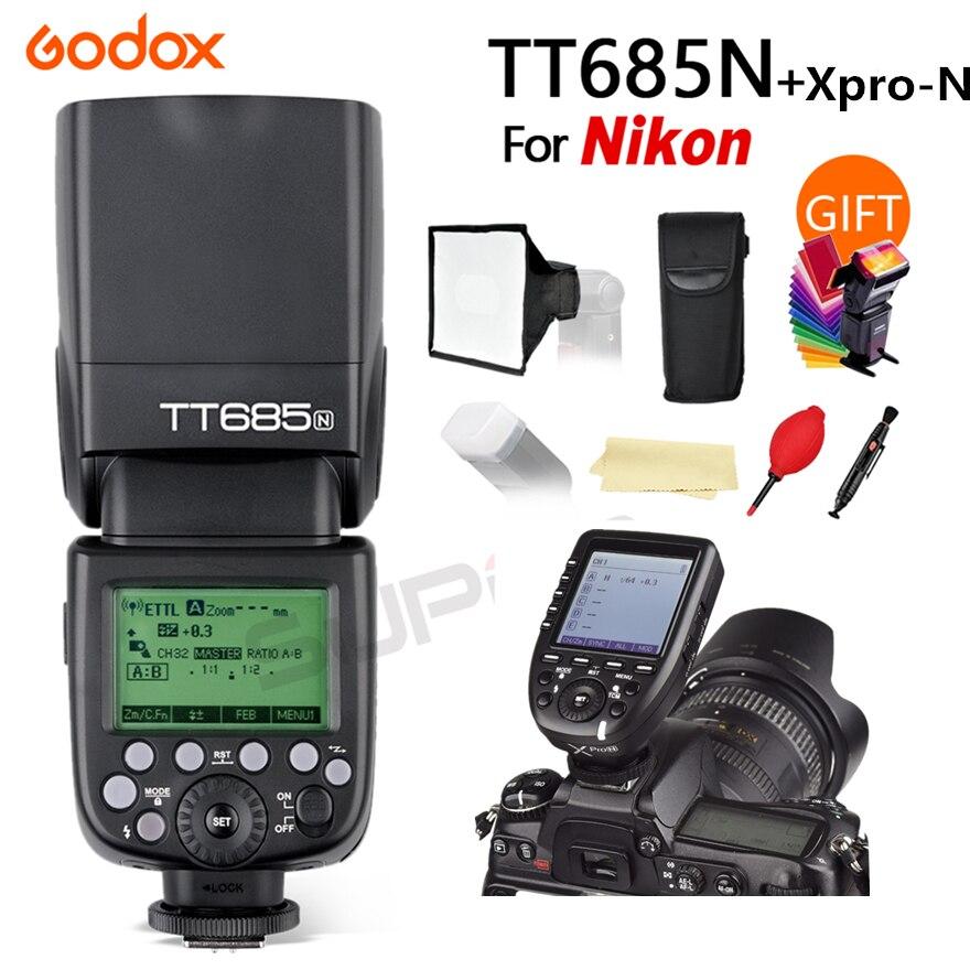 Godox TT685N 2.4G HSS 1/8000s i-TTL GN60 Wireless Speedlite Flash for Nikon D800 D700 D7100 D5200 D5100 D70 + Xpro-N TransmitterGodox TT685N 2.4G HSS 1/8000s i-TTL GN60 Wireless Speedlite Flash for Nikon D800 D700 D7100 D5200 D5100 D70 + Xpro-N Transmitter