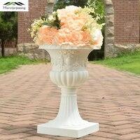 4Pcs/Lot Flower Vases Floor Plastic Vase Plant Floral Holder Flower Pot Road Lead 44cm for Home/Wedding Corridor Decoration G182