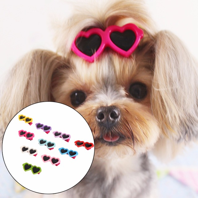 Best & Cheap Hair Clips Heart Glasses Grooming Supplies for Dogs & Cats Hair Accessories 1