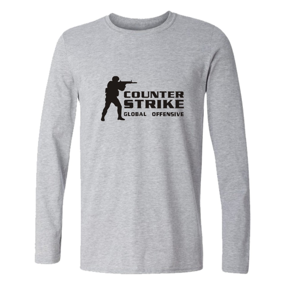 CS GO skjorta Counter Strike T-shirt med långärmad cs gå kläder cs Summer tshirts counter strike global offensiv utslagsplatsskjorta