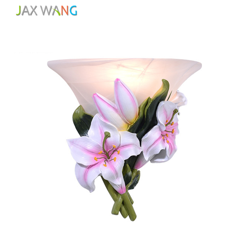 European style Petals Wall Lamp Flower Wall Sconce Bedroom ... on Led Interior Wall Sconces id=90705