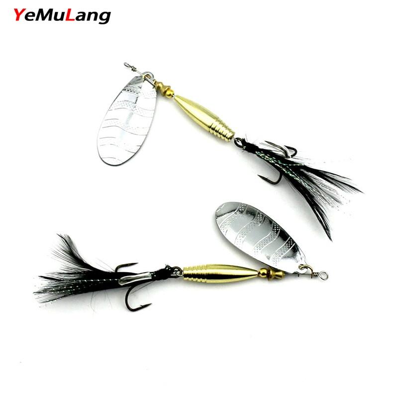 YeMuLang 1 stk 13,5g 9,5 cm Hardt fiske lokk Slitesterkt Spinner Wire - Fiske
