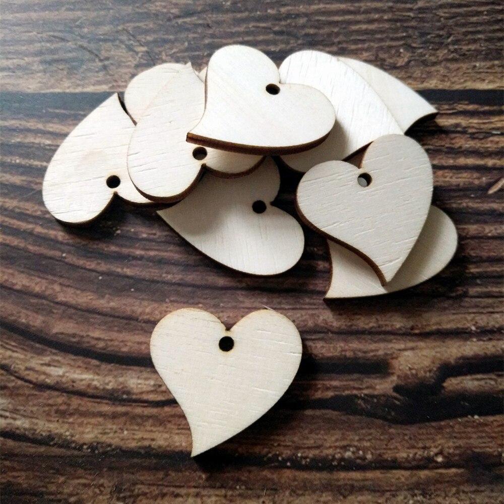 Hot Sale 50pcs Wood Love Heart Wedding Card Wish Tree Gift Tags Jute