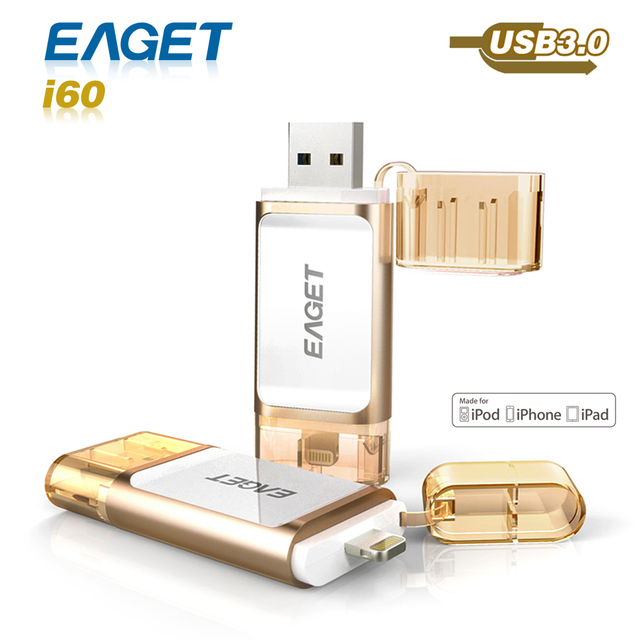 Eaget i60 pen drive 3.0 usb 3.0 MFI usb flash drive 32GB 64GB 128GB for iphone pendrive for ipad External Storage usb stick