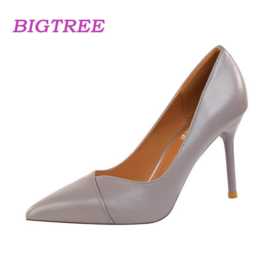 Buy BIGTREE Brand 2018 Luxury Designer Women Nude Heels Pumps Scarpin Feminino Salto Alto Fetish High Heel Elegant Lady Office Shoes