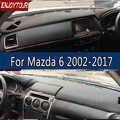 สำหรับMazda6 A Tenza 2002-2017หนังDashmatฝาครอบแผงควบคุมป้องกันไม่ให้แสงแดดแผ่นจ้ารีบ2007 2008 2009 2011 2012 2015 2016