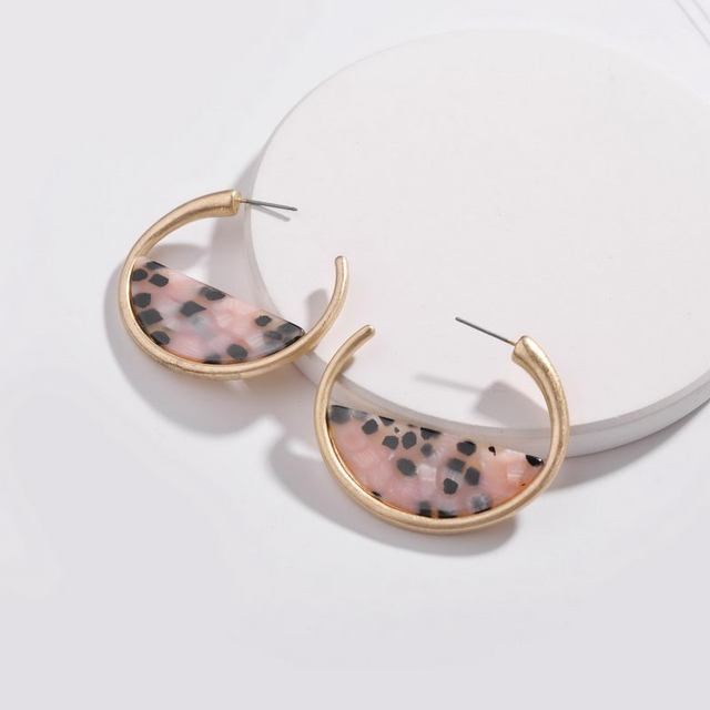 Acrylic Leopard Hoop Earrings 2018 Fashion Jewelry Women Accessories  Wholeasle 0183f9c102f9