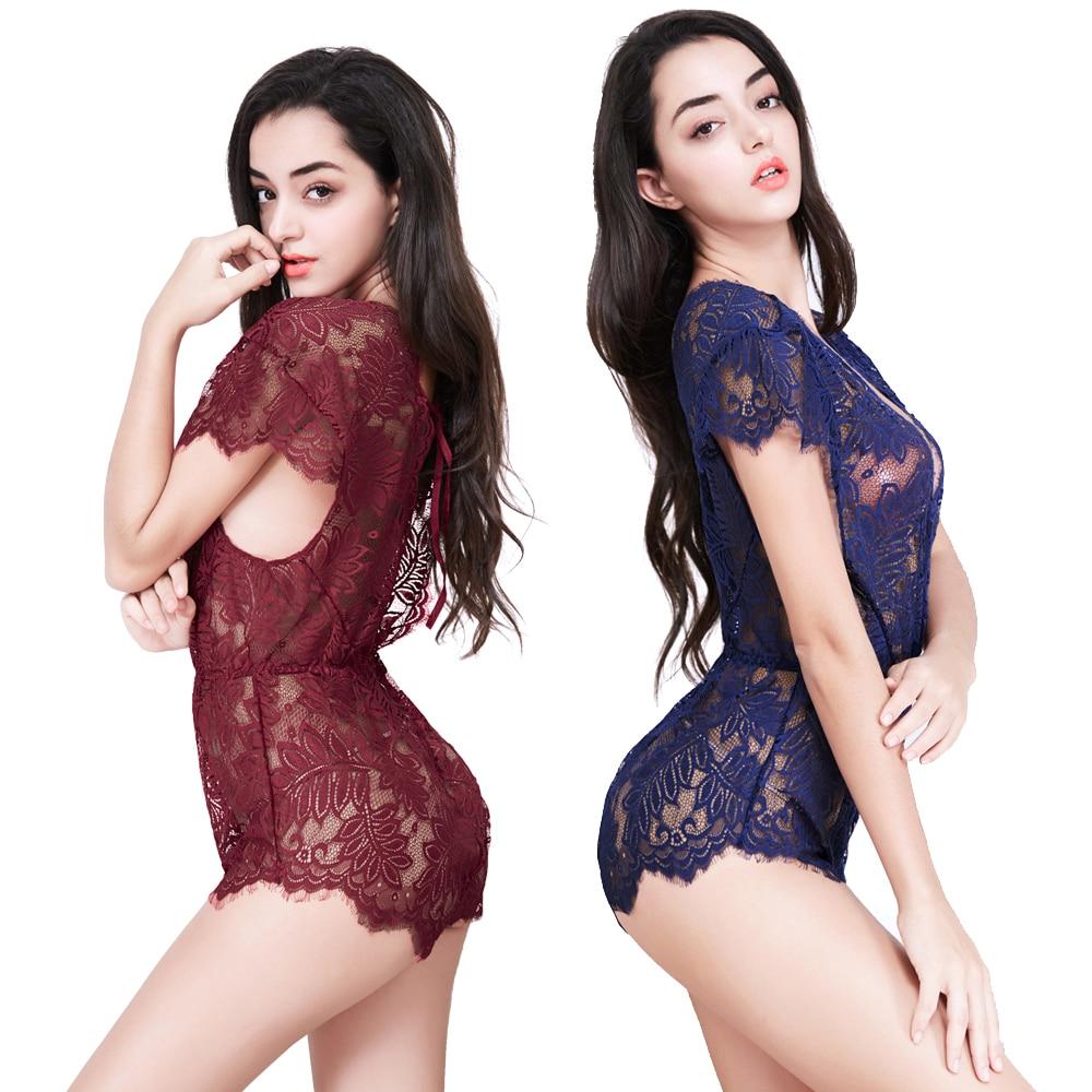 Candiway Sexy Dessous Frauen Babydoll Transparent Exotischen Kleid Kleider Sexy Unterwäsche Nachthemd Schlafanzug Chemises Netz Kleid Online Rabatt Neuheiten Und Spezialanwendung