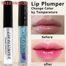 TREEINSIDE 1932 transparent big mouth lip oil lip fullness increase lip oil temperature change lip gloss