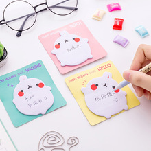 Cute Kawaii Cartoon Rabbit Memo Pad Sticky Paper Post It Notes For Kids Gift School Supplies Free Shipping 3372