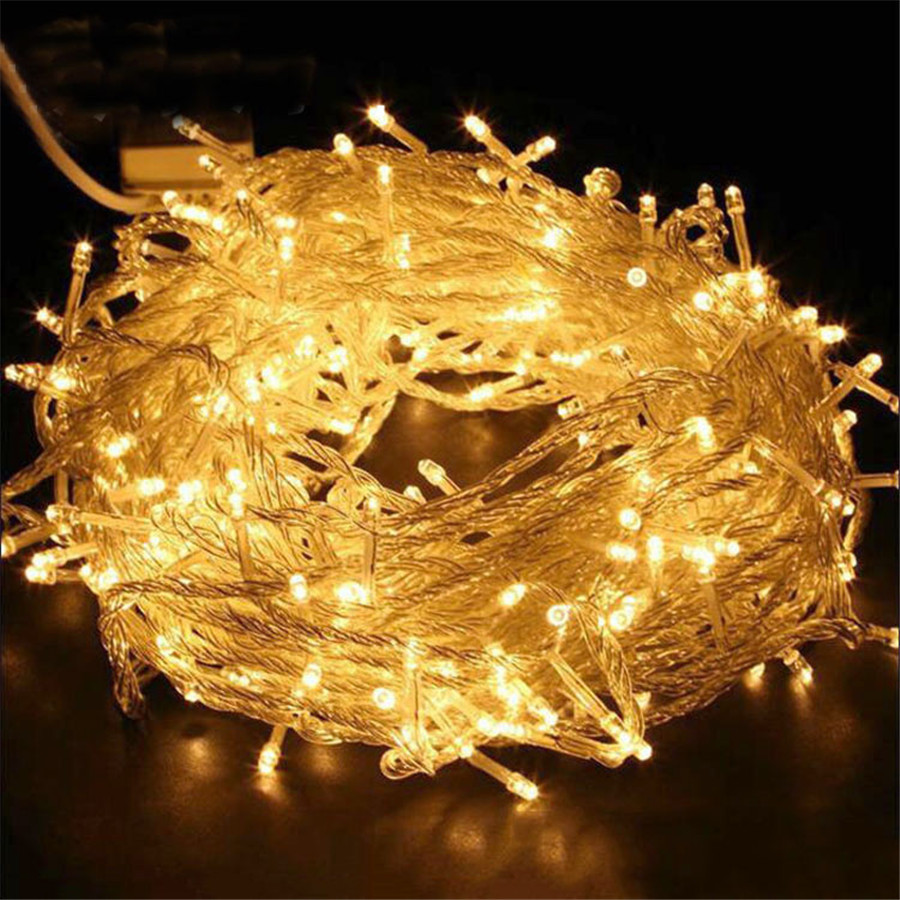 Thrisdar 50M 100M Outdoor Garden Christmas LED String Light 8 Function Waterproof Wedding Party Xmas Holiday Garland Fairy Light