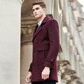 Pioneer camp longos e grossos de inverno misturas de lã de qualidade casaco de inverno quente ocasional dos homens dos homens marca de moda negócios sobretudo 611988