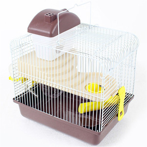Image 2 - AHUAPET House For Hamster Hedgehog House Guinea Pig Bed Cage For Hamster Small Animal Products Cage Chinchilla  Accessories H