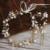 Ramos de ouro Cerâmica Flor de cabelo noiva Cabeça Terno do casamento tiara grampos de cabelo Do Casamento Acessórios Para o cabelo coroa para noivas