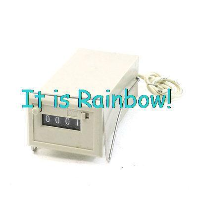 CSK4-DKW 4-Digit Resettable Electronmagnetic Counter Gray 24VDC