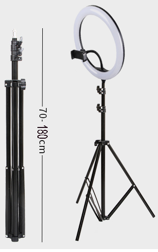 10inch 26cm 30cm Ring Light 180cm tripod with 1pc remote control 1pc phone holder 1pc light stand for dropshipping
