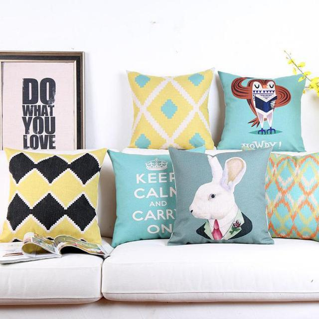 Cojines Animal Print.Nordic Style Geometric Pillow Cartoon Home Decoration Animal Print Bedding Set Lumbar Back Support Cushion Almofadas Cojines In Cushion From Home
