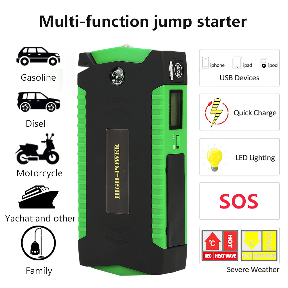 2019 High Power New Arrival Jump Starter High 16000mAh Portable Power Bank 12V 600A Battery Booster Car Charger Starting Device(China)