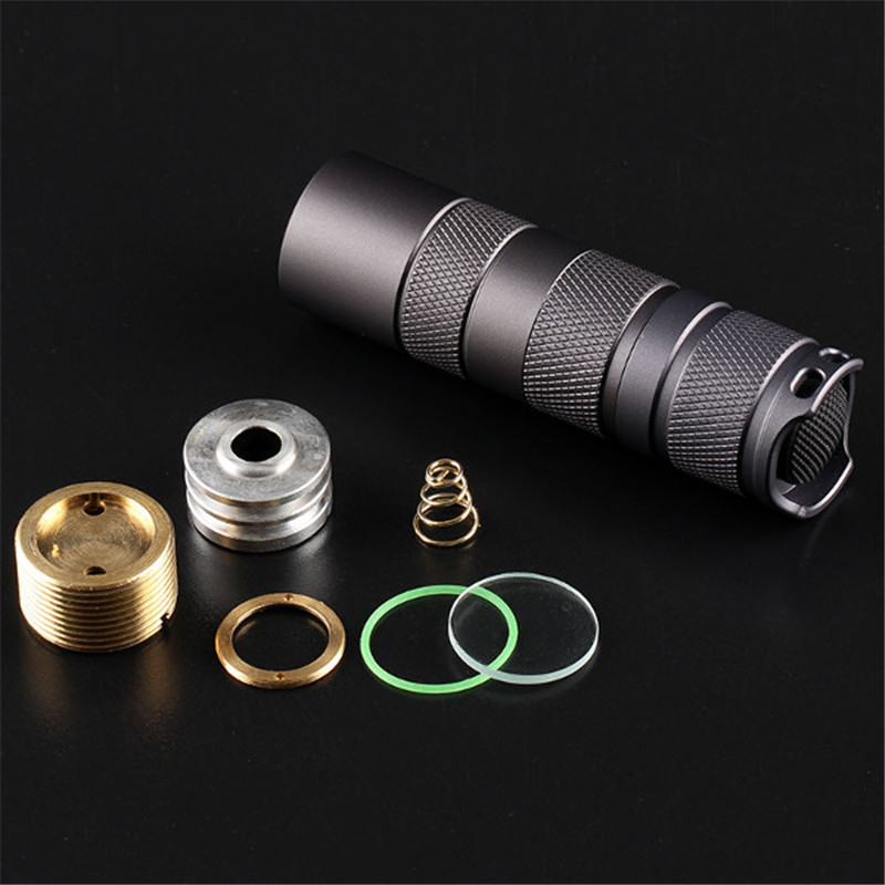 все цены на Aluminum Alloy Convoy S2+ Black Flashlight Host DIY LED Flashlight Shell Host Suitable LED diameter of 16MM онлайн