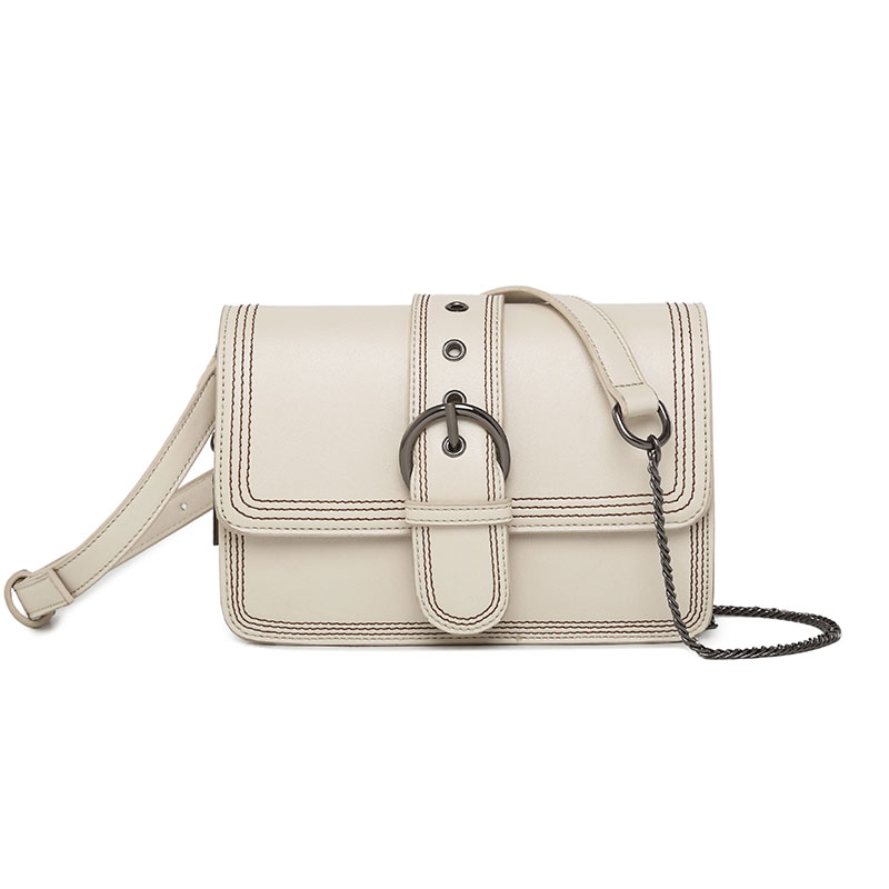 Customization White Flap Women Crossbody Bag Strap Chain Small Leather Cute Design Bolsos Female Bag EGT0351