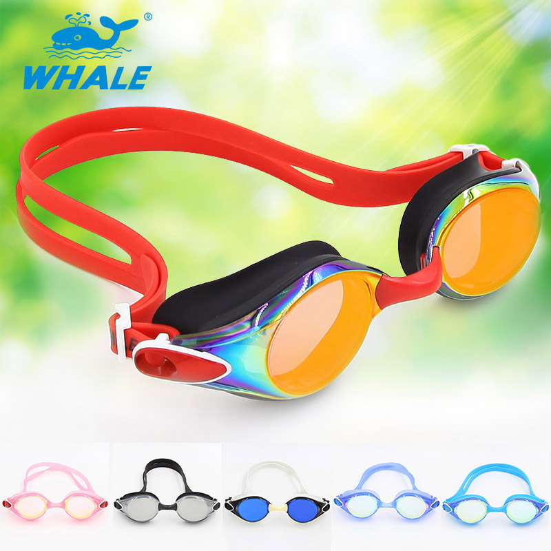 Whale Brand Mirror lenses swimming goggles with CE certificate cool high quality swimming goggle